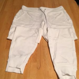 Calvin Klein white performance sweat pants